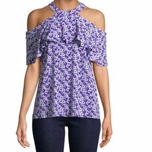 Michael Kors Women's Jewel Cold Shoulder Top